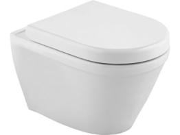 Cornat Trient Wand-WC, spülrandlos, Komplettset, 1 Stück, weiß, SWWCTRIBD00 -