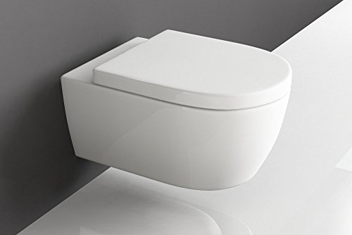 design h nge wc sp lrandlos toilette inkl wc sitz mit softclose absenkautomatik abnehmbar. Black Bedroom Furniture Sets. Home Design Ideas