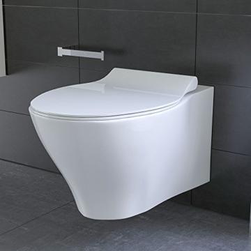 Spülrandloses Hänge Wc Keramik Toilette Ohne Spülrand Inkl