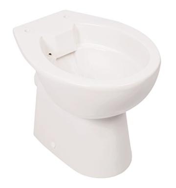 Stand-WC | Spülrandlos | Tiefspüler | Abgang waagerecht | Weiß | Toilette | Spülrandloses WC | Klo | Stand-WC | Randlos -
