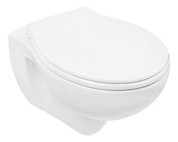 Wand-WC-Set Jonas | Spülrandlos | Inklusive WC-Sitz | Tiefspüler | Weiß | Spülrandlose Toilette | Spülrandloses Hänge-WC | Hängetoilette | Hygiene Plus | einfache Reinigung -